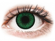 Zelene kontaktne leće - dioptrijske - SofLens Natural Colors Emerald - dioptrijske (2 kom leća)