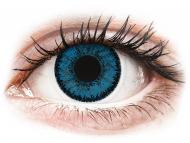 Plave kontaktne leće - dioptrijske - SofLens Natural Colors Topaz - dioptrijske (2 kom leća)