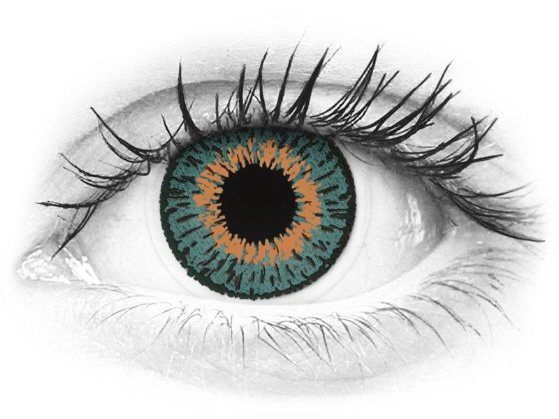Expressions Colors Aqua - nedioptrijske (1 leća)