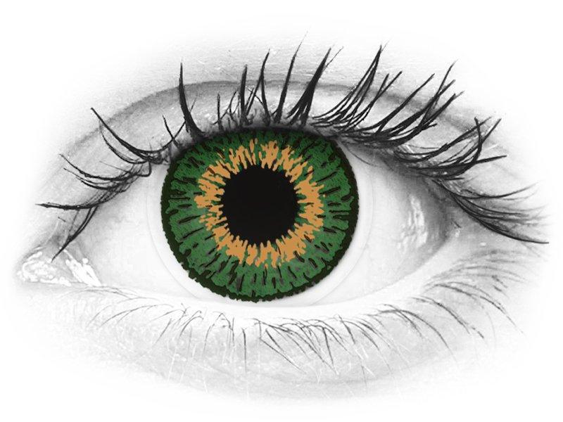 Expressions Colors Green - nedioptrijske (1 leća)
