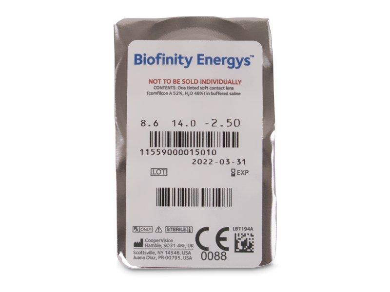 Pregled blister pakiranja  - Biofinity Energys (3 leće)