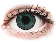 Plave kontaktne leće - bez dioptrije - FreshLook ColorBlends Brilliant Blue - nedioptrijske (2 kom leća)