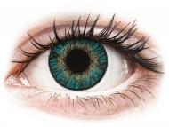 Plave kontaktne leće - bez dioptrije - FreshLook ColorBlends Turquoise - nedioptrijske (2 kom leća)