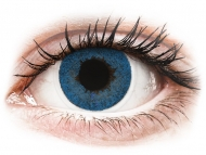 Plave kontaktne leće - bez dioptrije - FreshLook Dimensions Pacific Blue - nedioptrijske (2 kom leća)