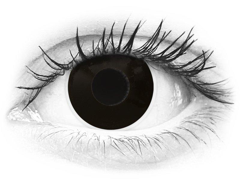 ColourVUE Crazy - Blackout - jednodnevne leće bez dioptrije (2 kom leća)