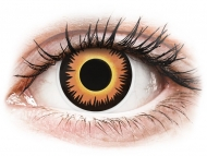 Kontaktne leće Maxvue Vision - ColourVUE Crazy - Orange Werewolf - jednodnevne leće bez dioptrije (2 kom leća)