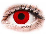 Crvene kontaktne leće - bez dioptrije - ColourVUE Crazy - Red Devil - jednodnevne leće bez dioptrije (2 kom leća)