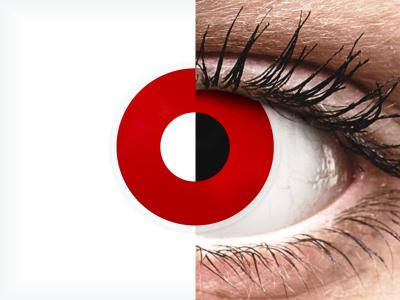 ColourVUE Crazy - Red Devil - jednodnevne leće bez dioptrije (2 kom leća)