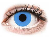 Posebne leće u boji - bez dioptrije - ColourVUE Crazy - Sky Blue - jednodnevne leće bez dioptrije (2 kom leća)