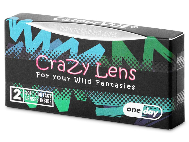 ColourVUE Crazy  - White Zombie - jednodnevne leće bez dioptrije (2 kom leća)