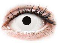 Posebne leće u boji - bez dioptrije - ColourVUE Crazy - Whiteout - jednodnevne leće bez dioptrije (2 kom leća)