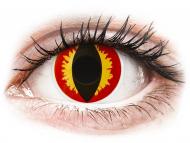 Crvene kontaktne leće - nedioptrijske - ColourVUE Crazy - Dragon Eyes - jednodnevne leće bez dioptrije (2 kom leća)