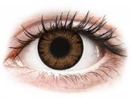 Smeđe kontaktne leće - dioptrijske - ColourVue One Day TruBlends Hazel - dioptrijske (10 kom leća)