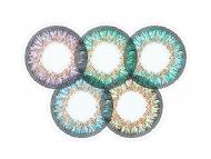 Zelene kontaktne leće - nedioptrijske - ColourVue One Day TruBlends Rainbow 2 - nedioptrijske (10 kom leća)