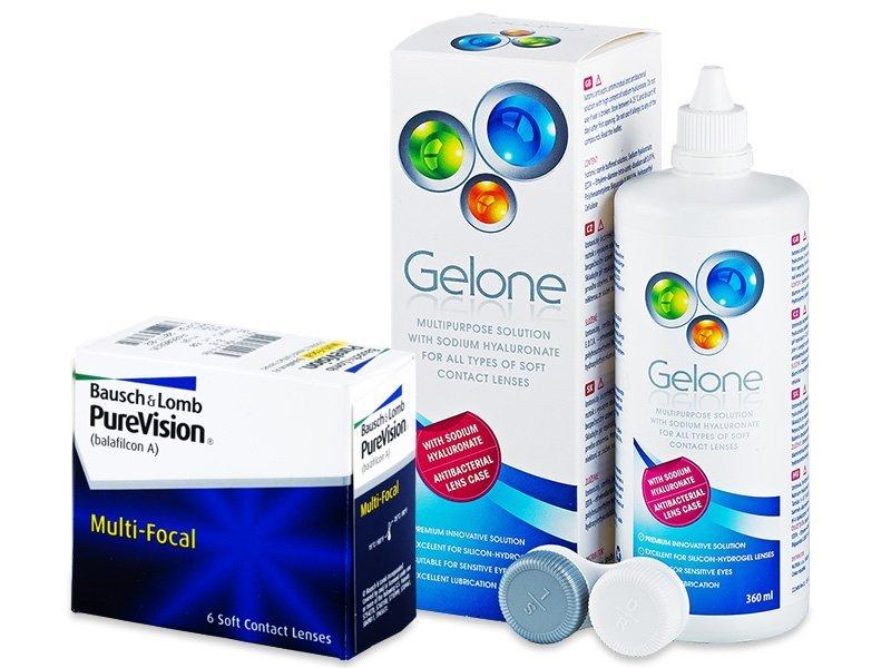 PureVision Multi-Focal (6 kom leća) + Gelone 360 ml - Ponuda paketa