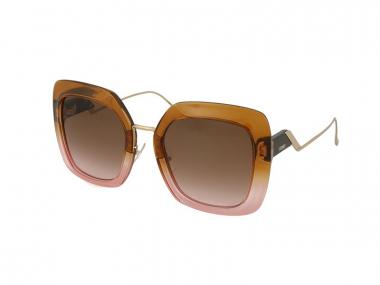 Oversize sunčane naočale - Fendi FF 0317/S DQ2/M2