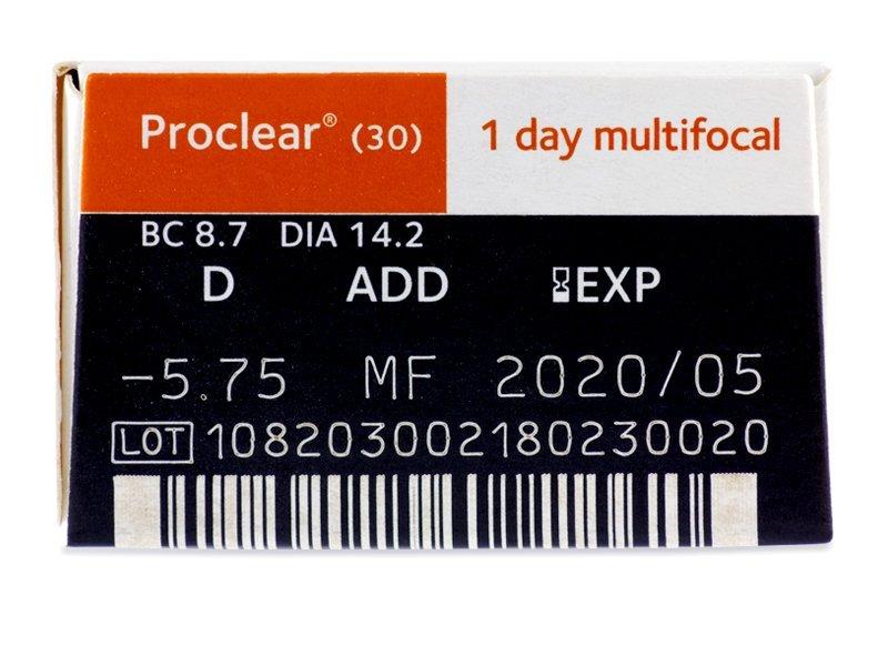 Pregled parametara leća - Proclear 1 Day multifocal (30komleća)
