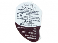Dailies TOTAL1 (90komleća) - Pregled blister pakiranja