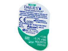 Dailies AquaComfort Plus Toric (30komleća) - Pregled blister pakiranja