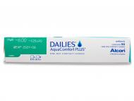 Dailies AquaComfort Plus Toric (90komleća) - Pregled parametara leća