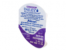 Dailies AquaComfort Plus Multifocal (30 kom leća) - Pregled blister pakiranja