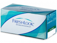 Leće u boji - FreshLook Dimensions - dioptrijske (6komleća)