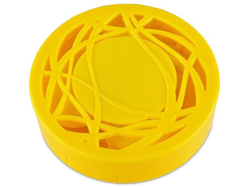 Kutija s ogledalom – ornamentno žuta