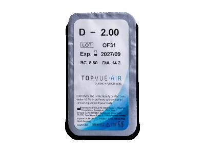 TopVue Air (6 kom leća)  - Pregled blister pakiranja