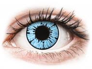 Plave kontaktne leće - bez dioptrije - ColourVUE Crazy Lens - Blizzard - bez dioptrije (2 kom leća)