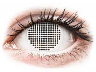 Bijele kontaktne leće - bez dioptrije - ColourVUE Crazy Lens - White Screen - bez dioptrije (2 kom leća)