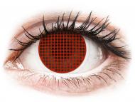 Crvene kontaktne leće - bez dioptrije - ColourVUE Crazy Lens - Red Screen - bez dioptrije (2 kom leća)