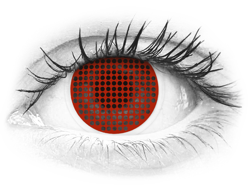 ColourVUE Crazy Lens - Red Screen - bez dioptrije (2 kom leća)