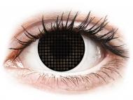 Posebne leće u boji - bez dioptrije - ColourVUE Crazy Lens - Black Screen - bez dioptrije (2 kom leća)