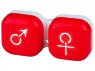 Posudice za kontaktne leće - Kutija man&woman - red