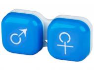 Posudice za kontaktne leće - Kutija man&woman - blue