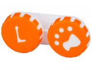Posudice za kontaktne leće - Kutija Paw orange