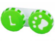 Posudice za kontaktne leće - Kutija Paw green