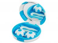 Kutije za leće s ogledalom - Kutija s ogledalom Football - blue