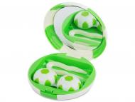 Kutije za leće s ogledalom - Kutija s ogledalom Football - green
