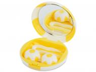 Kutije za leće s ogledalom - Kutija s ogledalom Football - yellow