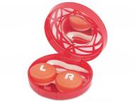 Kutije za leće s ogledalom - Kutija s ogledalom – ornamentno crvena