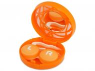 Kutije za leće s ogledalom - Kutija s ogledalom – ornamentno narančasta