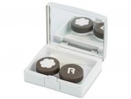 Kutije za leće s ogledalom - Kutija s ogledalom Elegant  - silver