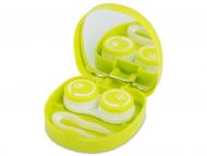 Kutije za leće s ogledalom - Kutija s ogledalom Smile - green