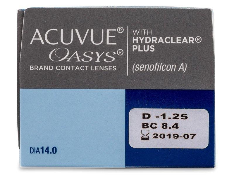 Acuvue Oasys (24kom leća) - Pregled parametara leća