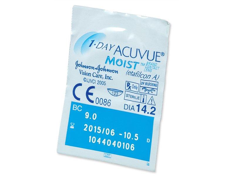 1 Day Acuvue Moist (180leća) - Pregled blister pakiranja