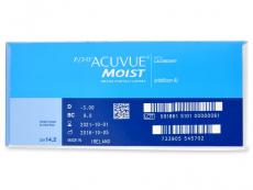 1 Day Acuvue Moist (180 leća) - Pregled parametara leća