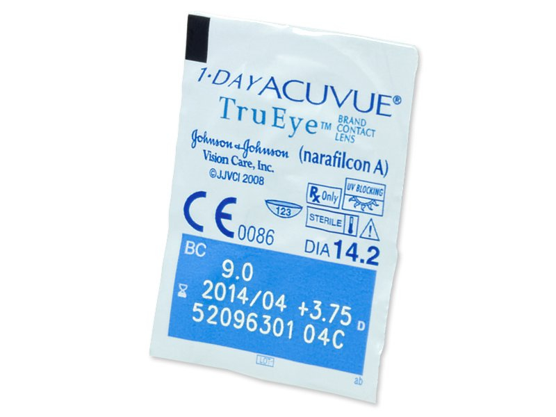 Pregled blister pakiranja  - 1 Day Acuvue TruEye (180komleća)