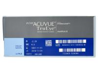 1 Day Acuvue TruEye (180komleća) - Pregled parametara leća