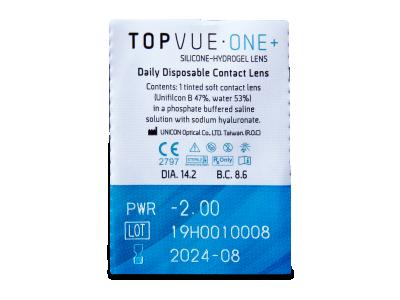 TopVue One+ (90 kom leća) - Pregled blister pakiranja